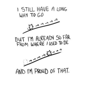 I still have a long way to go