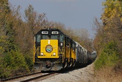 caboose on train