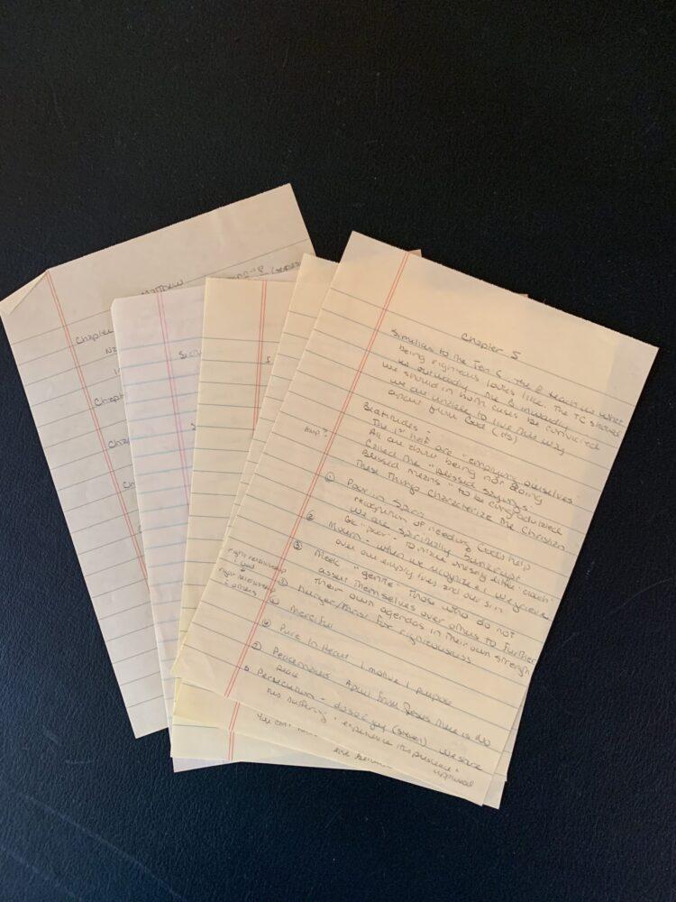 hand written notes