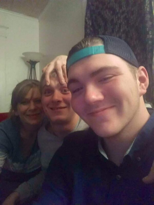 mom and her sons