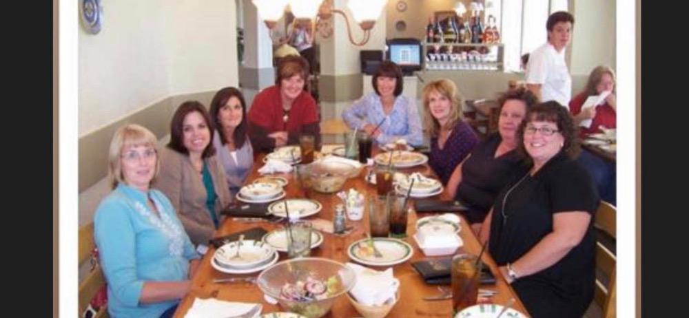 group of women having lunch