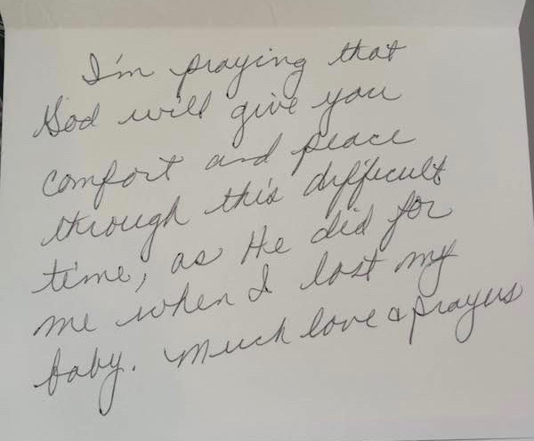 hand written note